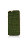 Hunter Green Crocodile Iphone 6 Leather Back by VALENTINE GOODS Now Available on Moda Operandi