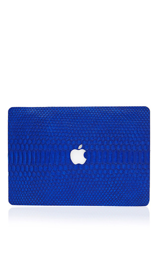 Medium valentine goods blue cobalet python 13in macbook air leather back
