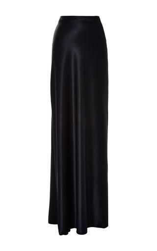 Medium ellery navy moon slip skirt with godet