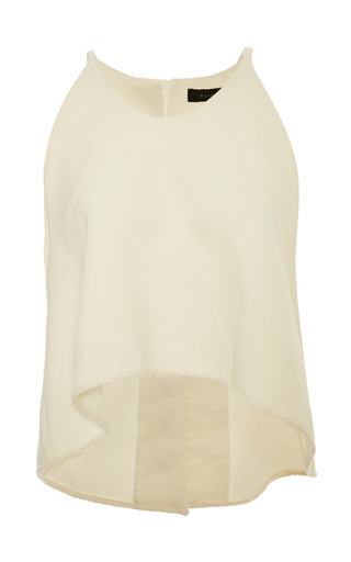 Medium ellery white drizzle spagetti strap crop top in ivory