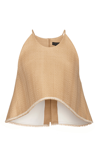 Medium ellery brown ellery drizzle spagetti strap crop top in camel