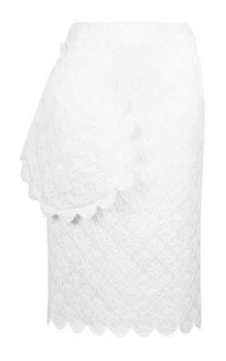 Medium simone rocha white white brocade pencil skirt 2