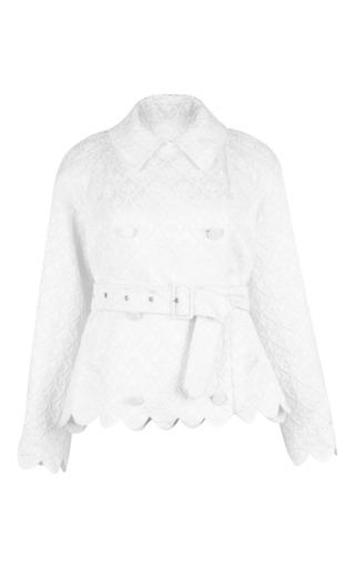 Medium simone rocha white white brocade jacket