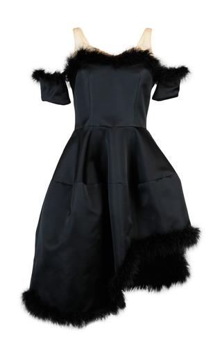 Medium simone rocha black duchess satin off shoulder dress