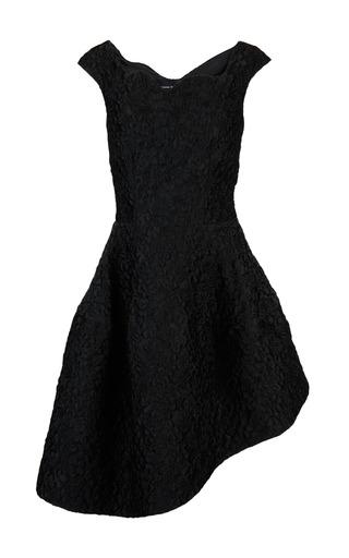 Medium simone rocha black cloque sweetheart bodice dress