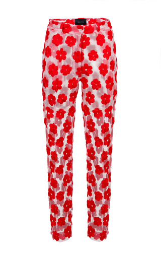 Medium simone rocha red red embroidered floral trouser