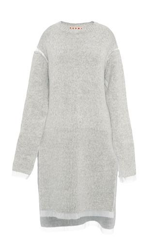 Medium marni off white pearl melange knit sweater dress