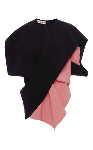 Medium marni multi black and pink diagonal colorblock short sleeve top