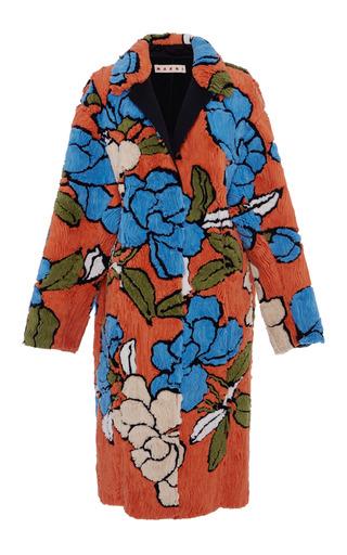 Medium marni blue floral duster coat