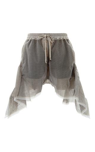 Medium rick owens brown frilled shorts in dark dust tulle