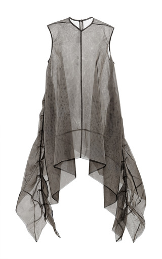 Medium rick owens brown frilled turboshell in dark dust tulle