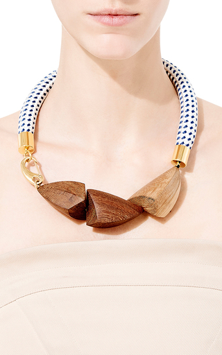 poshmark and m necklace wood links resin marni listing
