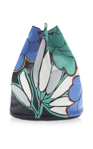 Medium marni multi nappa stone shoulder bag