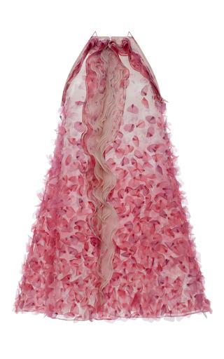 Medium blumarine pink pink petal print organza halter dress