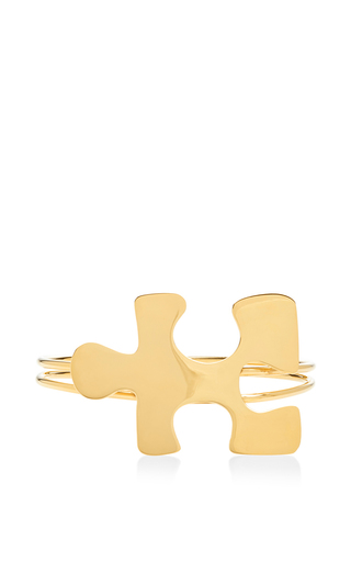 Medium j w anderson gold gold double band puzzle choker 2