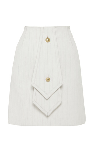 Medium j w anderson multi beige and multi striped double tie skirt