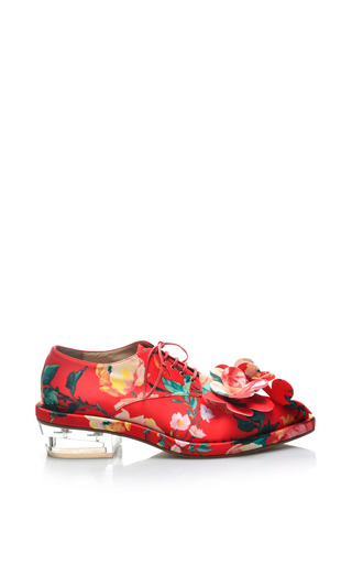 Medium simone rocha print mad flower embellished brogue