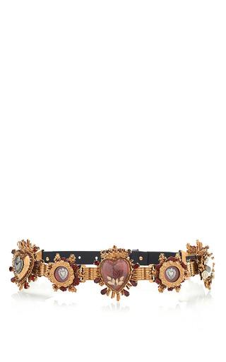 Medium dolce gabbana gold small sacred heart belt in gold multi