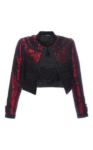 Medium dolce gabbana black rosso floral jacquard bolero jacket