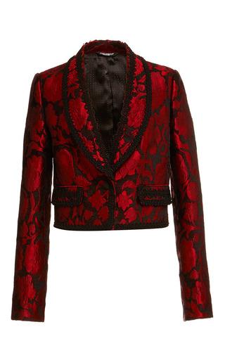 Medium dolce gabbana red red jacquard embroidered bolero jacket