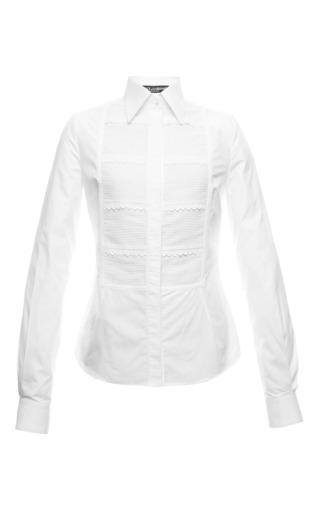 Medium dolce gabbana white fitted white tuxedo shirt