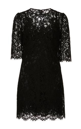 Medium dolce gabbana black black lace cocktail dress 2