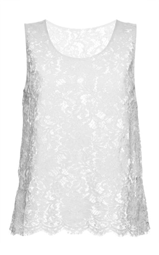 Medium dolce gabbana white sleeveless white lace top