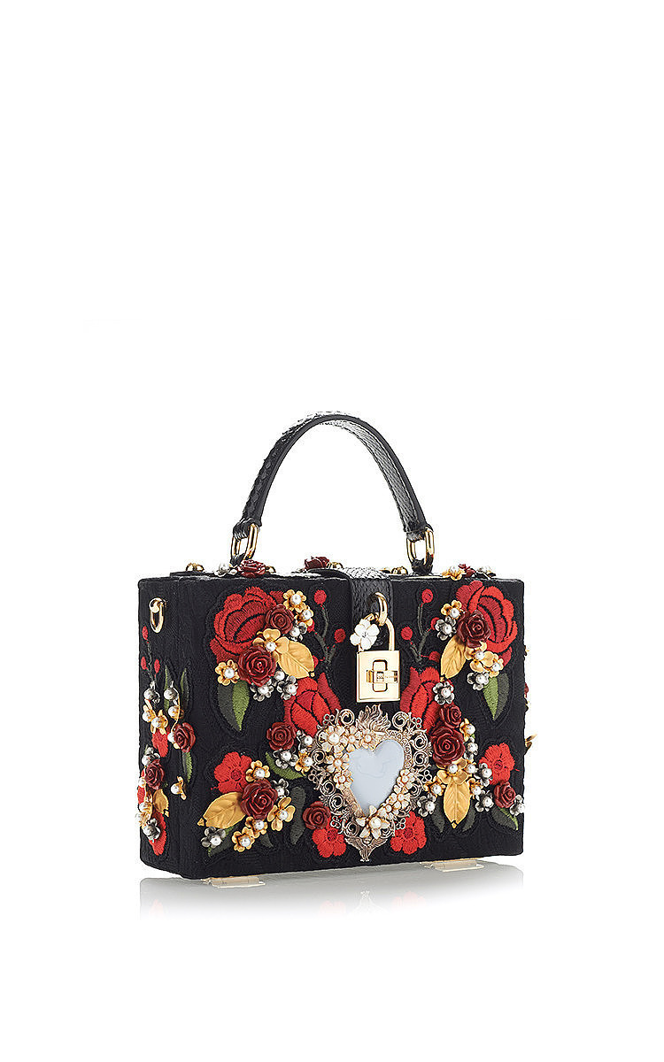 d61e4e3491 Dolce   GabbanaSacred Heart And Carnation Embroidered Box Bag. CLOSE.  Loading. Loading