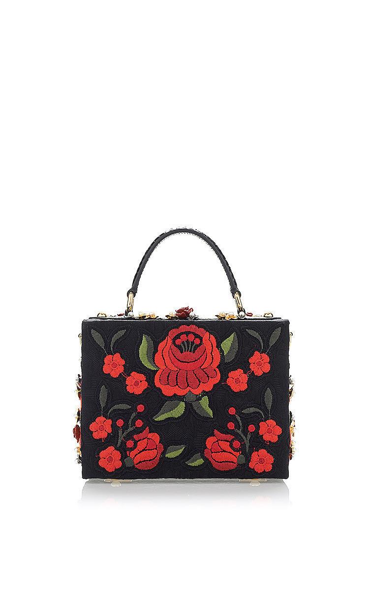 6c20fa69c02e Dolce   GabbanaSacred Heart And Carnation Embroidered Box Bag. CLOSE.  Loading. Loading. Loading. Loading