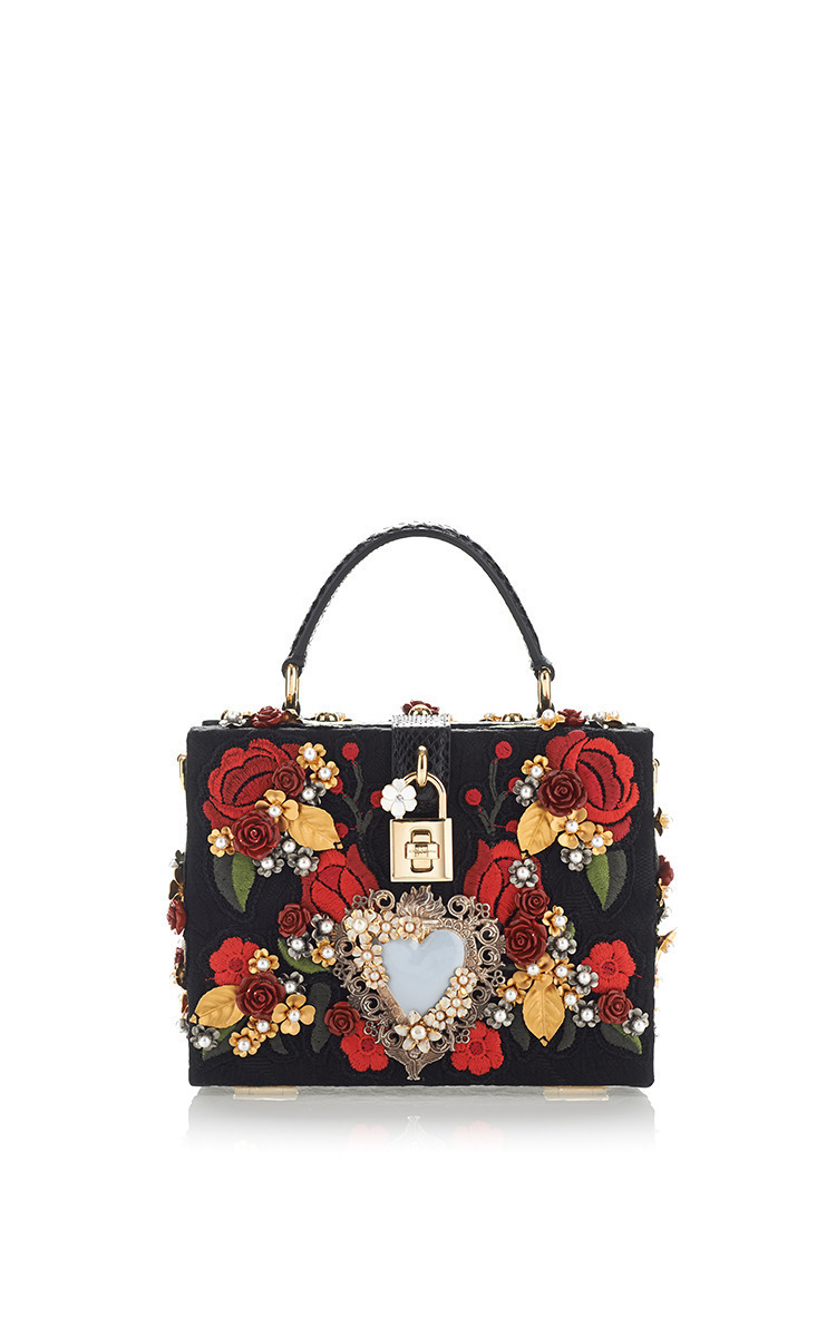 454a0b6798 Dolce   GabbanaSacred Heart And Carnation Embroidered Box Bag. CLOSE.  Loading