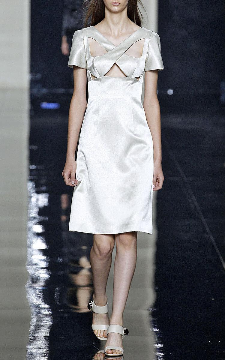 Ivory Short Sleeve Bondage Dress by Christopher Kane | Moda Operandi
