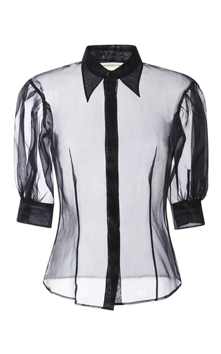 Medium christopher kane black black collared silk shirt