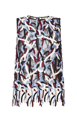 Medium christopher kane multi all over rope lace top