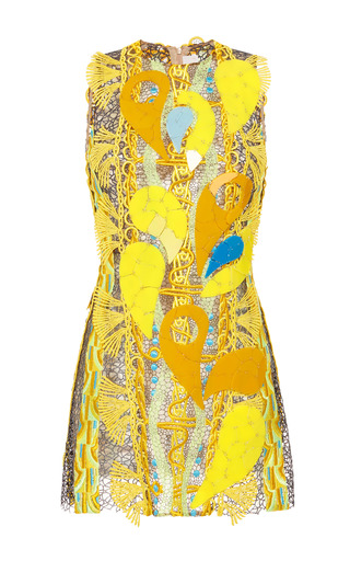 Medium peter pilotto yellow embellished acid yellow paisley dress