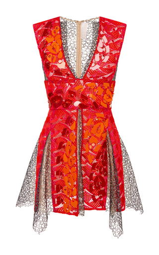 Medium peter pilotto red embellished ruby phoenicia dress