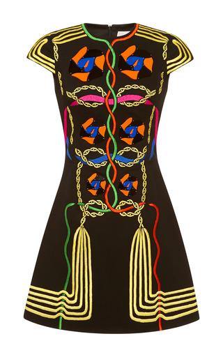 Medium peter pilotto black embellished black denim rope dress