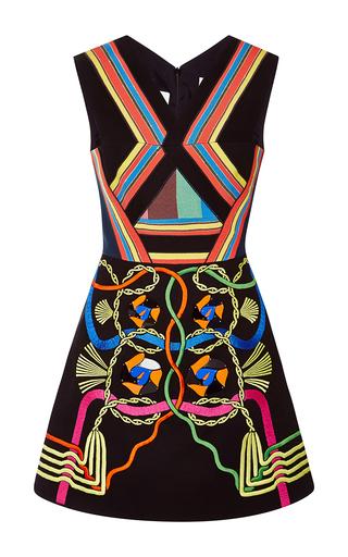 Medium peter pilotto black embellished black denim hendrix mini dress