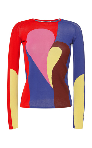 Medium peter pilotto red red astro knit pullover