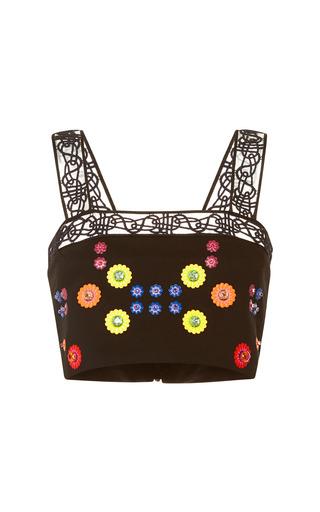 Medium peter pilotto black embellished black cali crop top