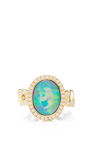 Medium katherine jetter multi crystal opal and diamond twisting vine ring