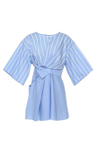 Medium jonathan saunders stripe blue white stripe siobhan top