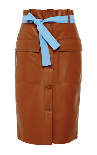 Medium jonathan saunders brown cacao edith skirt