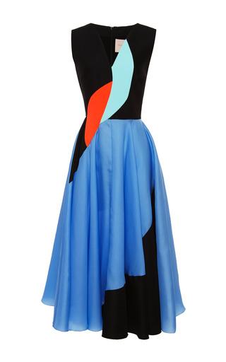 Medium roksanda ilincic multi crinkle crepe and organza lansdale dress
