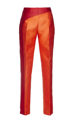 Medium antonio berardi red orange and red crossover pant
