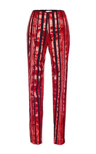Medium antonio berardi black black and red velvet striped classic pant
