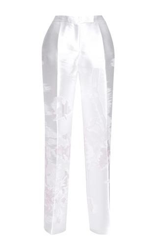 Medium antonio berardi white off white jacquard wide leg trouser