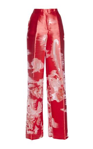 Medium antonio berardi purple scarlet red wide leg pant