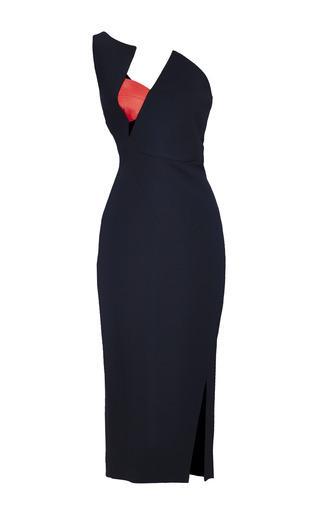 Medium antonio berardi black black and red one shoulder dress