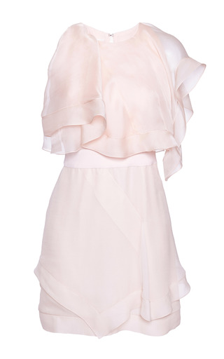 Medium antonio berardi pink pastel pink cocktail dress with layered details