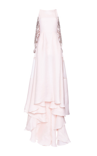 Medium antonio berardi pink pastel pink embroidered back silk gown